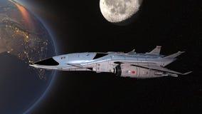τρισδιάστατη απόδοση CG του διαστημικού σκάφους στοκ φωτογραφίες