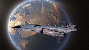 τρισδιάστατη απόδοση CG του διαστημικού σκάφους στοκ φωτογραφίες με δικαίωμα ελεύθερης χρήσης