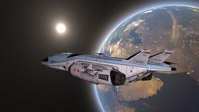 τρισδιάστατη απόδοση CG του διαστημικού σκάφους στοκ φωτογραφία με δικαίωμα ελεύθερης χρήσης