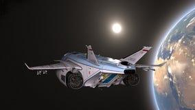 τρισδιάστατη απόδοση CG του διαστημικού σκάφους στοκ εικόνες με δικαίωμα ελεύθερης χρήσης