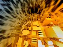 τρισδιάστατη αφηρημένη απεικόνιση Στοκ εικόνα με δικαίωμα ελεύθερης χρήσης