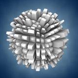 τρισδιάστατη αφηρημένη μορ&ph Στοκ εικόνα με δικαίωμα ελεύθερης χρήσης