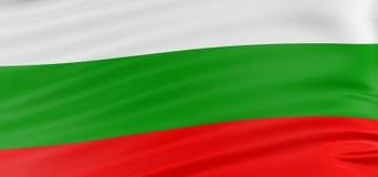 τρισδιάστατη βουλγαρική σημαία Στοκ Εικόνες