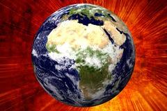 τρισδιάστατη γη της Αφρικής Στοκ φωτογραφία με δικαίωμα ελεύθερης χρήσης