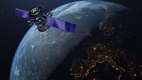 τρισδιάστατη γη, glob υπόβαθρο 4K δυαδικού κώδικα loopable διανυσματική απεικόνιση