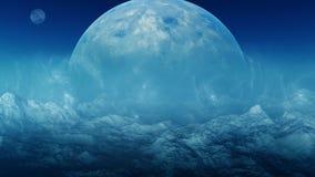 τρισδιάστατη διαστημική τέχνη: Αλλοδαπός πλανήτης στοκ φωτογραφίες