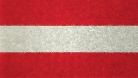 τρισδιάστατη εικόνα της σημαίας της Αυστρίας Ελεύθερη απεικόνιση δικαιώματος