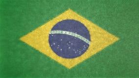 τρισδιάστατη εικόνα της σημαίας της Βραζιλίας Απεικόνιση αποθεμάτων