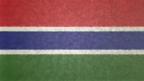 τρισδιάστατη εικόνα της σημαίας της Γκάμπιας Διανυσματική απεικόνιση