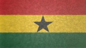 τρισδιάστατη εικόνα της σημαίας της Γκάνας Διανυσματική απεικόνιση