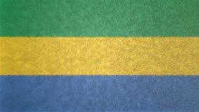 τρισδιάστατη εικόνα της σημαίας της Γκαμπόν Απεικόνιση αποθεμάτων