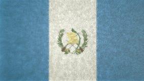 τρισδιάστατη εικόνα της σημαίας της Γουατεμάλα Διανυσματική απεικόνιση