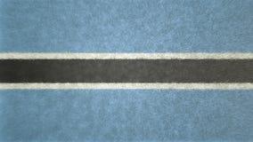 τρισδιάστατη εικόνα της σημαίας της Μποτσουάνα Διανυσματική απεικόνιση