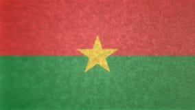 τρισδιάστατη εικόνα της σημαίας της Μπουρκίνα Φάσο Απεικόνιση αποθεμάτων