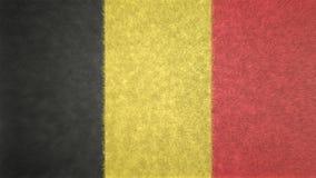 τρισδιάστατη εικόνα της σημαίας του Βελγίου Ελεύθερη απεικόνιση δικαιώματος