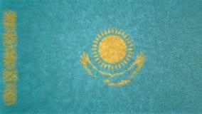 τρισδιάστατη εικόνα της σημαίας του Καζακστάν Ελεύθερη απεικόνιση δικαιώματος