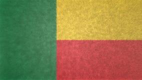 τρισδιάστατη εικόνα της σημαίας του Μπενίν Διανυσματική απεικόνιση