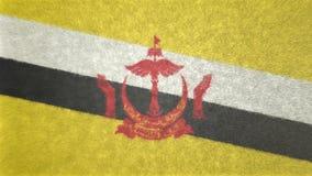 τρισδιάστατη εικόνα της σημαίας του Μπρουνέι Διανυσματική απεικόνιση