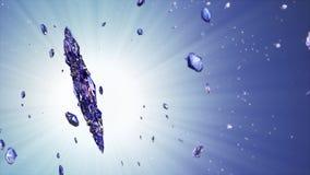 τρισδιάστατη εικόνα snowflake κρυστάλλου στο μπλε κλίμα φιλμ μικρού μήκους