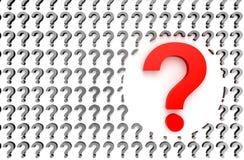 τρισδιάστατη ερώτηση σημαδιών απεικόνισης που δίνεται στοκ εικόνα