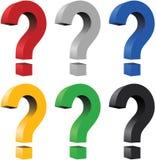 τρισδιάστατη ερώτηση σημα&d Στοκ φωτογραφία με δικαίωμα ελεύθερης χρήσης