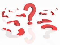 τρισδιάστατη ερώτηση σημα&d Στοκ εικόνα με δικαίωμα ελεύθερης χρήσης