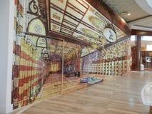 τρισδιάστατη ζωγραφική κοντά στο χρυσό παζάρι μέσα στη λεωφόρο του Ντουμπάι Στοκ Φωτογραφίες