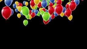 τρισδιάστατη ζωτικότητα των ζωηρόχρωμων επιπλεόντων μπαλονιών που αυξάνονται επάνω απεικόνιση αποθεμάτων