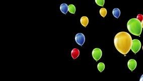 τρισδιάστατη ζωτικότητα των κόκκινων, μπλε, κίτρινων και πράσινων μπαλονιών αύξησης απεικόνιση αποθεμάτων