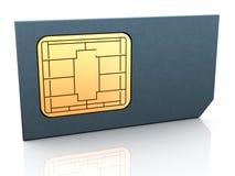 τρισδιάστατη κάρτα sim Στοκ Φωτογραφίες