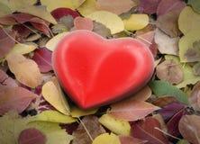 τρισδιάστατη καρδιά στα φύλλα διανυσματική απεικόνιση