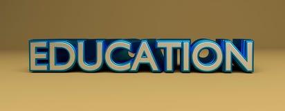 τρισδιάστατη λέξη εκπαίδευσης Στοκ φωτογραφία με δικαίωμα ελεύθερης χρήσης