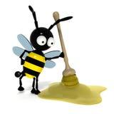 τρισδιάστατη μέλισσα Διανυσματική απεικόνιση