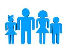 τρισδιάστατη οικογένεια Στοκ φωτογραφία με δικαίωμα ελεύθερης χρήσης