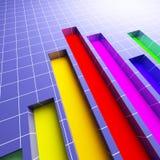 τρισδιάστατη οικονομική στατιστική διαγραμμάτων Διανυσματική απεικόνιση