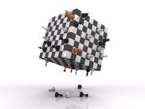 τρισδιάστατη πάλη σκακιού διανυσματική απεικόνιση