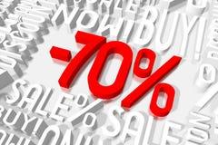 τρισδιάστατη πώληση -70% Στοκ εικόνες με δικαίωμα ελεύθερης χρήσης