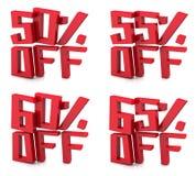 τρισδιάστατη πώληση 50 65 τοις εκατό Στοκ Φωτογραφία