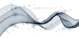 τρισδιάστατη σειρά πλέγματος μορίων, ροή υγιών κυμάτων Στρογγυλή απεικόνιση επίδρασης σημείων διανυσματική Συνδυασμένο πλέγμα, με ελεύθερη απεικόνιση δικαιώματος