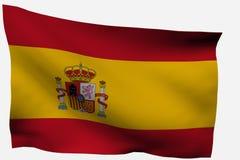 τρισδιάστατη σημαία Ισπανί&a Στοκ Εικόνες