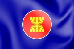 τρισδιάστατη σημαία της ASEAN ελεύθερη απεικόνιση δικαιώματος
