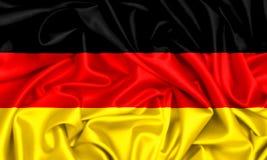 τρισδιάστατη σημαία του κυματισμού της Γερμανίας Στοκ εικόνα με δικαίωμα ελεύθερης χρήσης