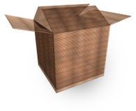 τρισδιάστατη συσκευασία χαρτονιού κιβωτίων Στοκ φωτογραφία με δικαίωμα ελεύθερης χρήσης