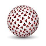 τρισδιάστατη σφαίρα ladybugs Στοκ Φωτογραφία