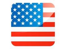 τρισδιάστατη τετραγωνική σημαία των Ηνωμένων Πολιτειών της Αμερικής απεικόνιση αποθεμάτων