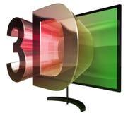 τρισδιάστατη τηλεόραση Στοκ εικόνες με δικαίωμα ελεύθερης χρήσης