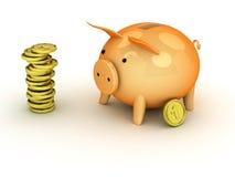 τρισδιάστατη τράπεζα piggy Στοκ εικόνα με δικαίωμα ελεύθερης χρήσης