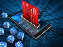 τρισδιάστατη τραπεζική κάρτα απεικόνιση αποθεμάτων