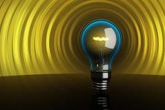 τρισδιάστατη υψηλή ποιότητα lightbulb lightcape Στοκ εικόνες με δικαίωμα ελεύθερης χρήσης
