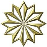 τρισδιάστατη χρυσή διακόσ Στοκ φωτογραφίες με δικαίωμα ελεύθερης χρήσης
